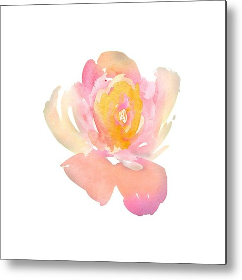 Watercolors Metal Print featuring the digital art Pretty Watercolor Flower by Cindy Thomas