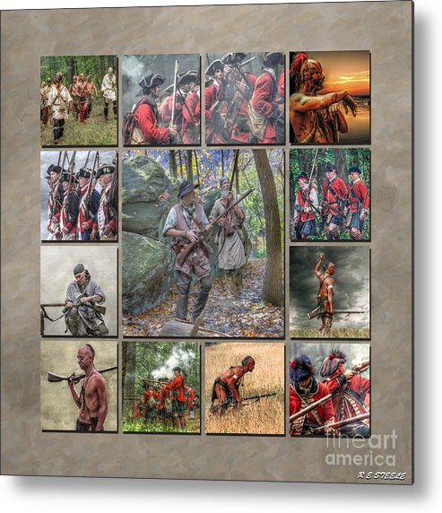 Uniform Metal Print featuring the photograph Print Collection French And Indian War by Randy Steele