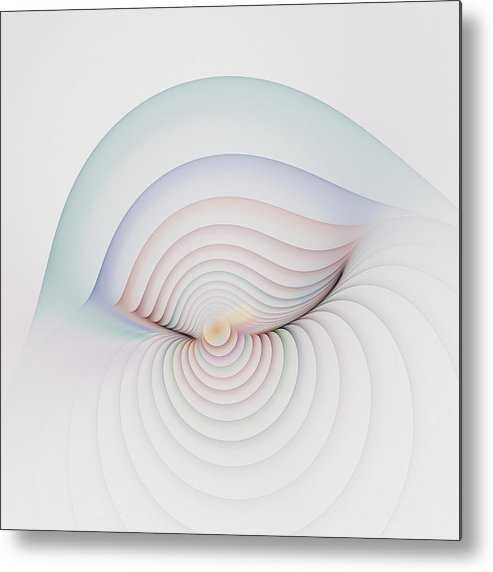 Fractal Metal Print featuring the digital art Progression 1 by Richard Ortolano