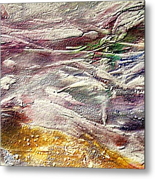 Purple Land Metal Print featuring the painting Purple Land by Dragica Micki Fortuna