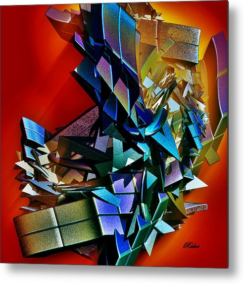 Shapes Metal Print featuring the digital art Puzzled by Sara Raber