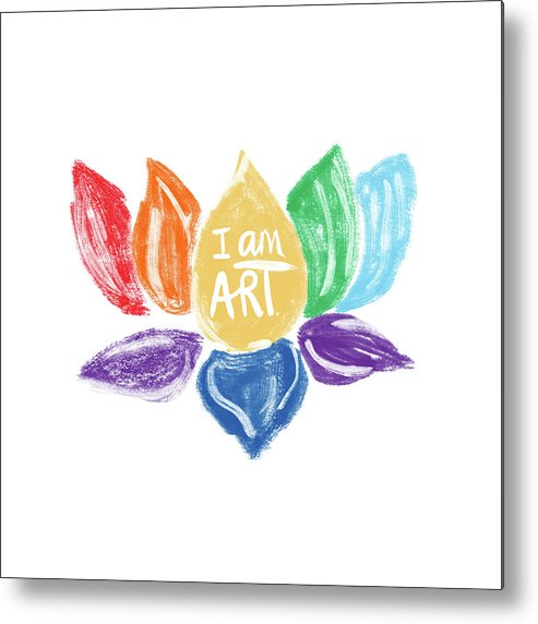 Lotus Metal Print featuring the mixed media Rainbow Lotus I Am Art- Art By Linda Woods by Linda Woods