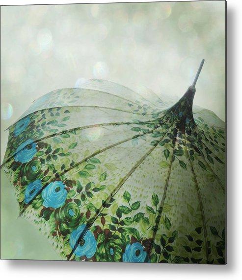 Rain Metal Print featuring the photograph Raining Bokeh by Sally Banfill