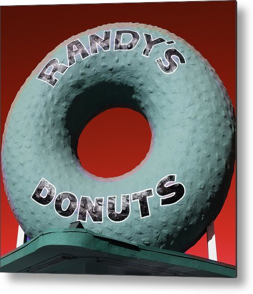 Randy's Donuts Metal Print featuring the photograph Randy's Donuts - 9 by Stephen Stookey