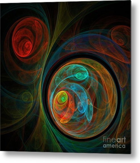 Rebirth Metal Print featuring the painting Rebirth by Oni H