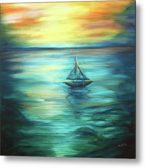 Reflections Metal Print featuring the painting Reflections Of Peace by Michelle Pier