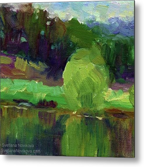 Impressionism Metal Print featuring the photograph Reflections Painting Study By Svetlana by Svetlana Novikova