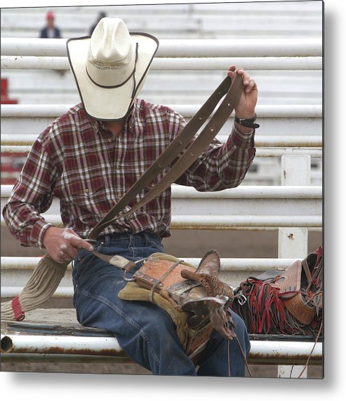 Rodeo Metal Print featuring the photograph Rodeo Cowboy by Jack Dagley