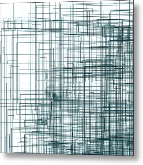 Abstract Metal Print featuring the digital art S.3.51 by Gareth Lewis