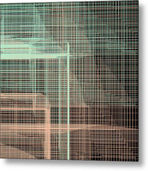 Abstract Metal Print featuring the digital art S.4.11 by Gareth Lewis