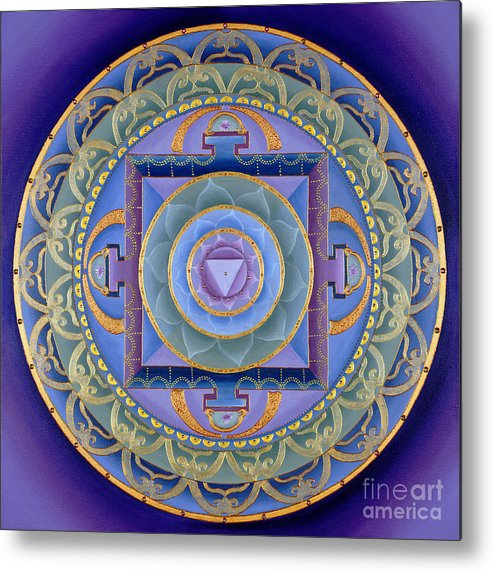 Mandala Metal Print featuring the painting Sacred Feminine by Charlotte Backman