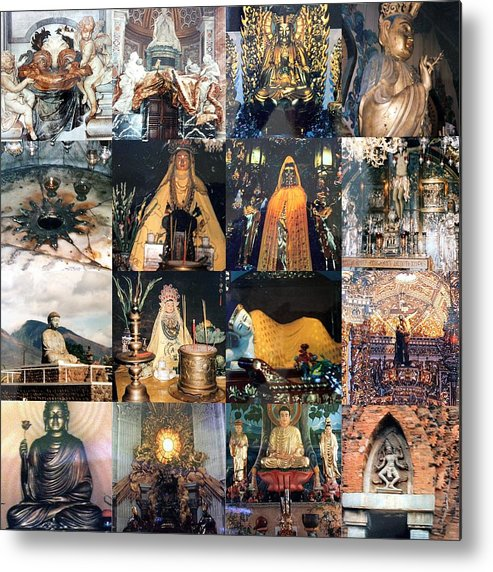 Collage Metal Print featuring the photograph Sacred Places by Carmen Cordova