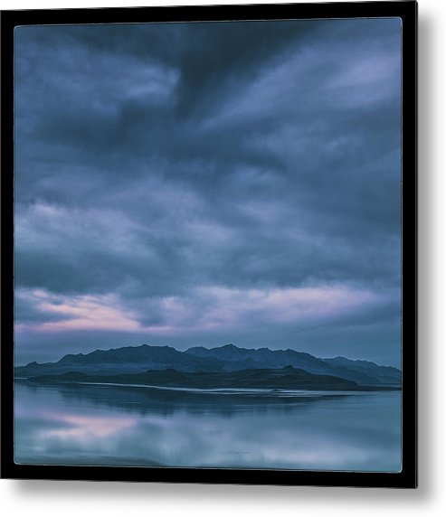 Utah Metal Print featuring the photograph Salt Lake Blues by Robert Fawcett