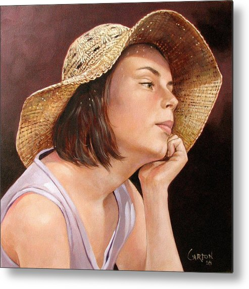 Portrait Metal Print featuring the painting Sammie by Jerrold Carton