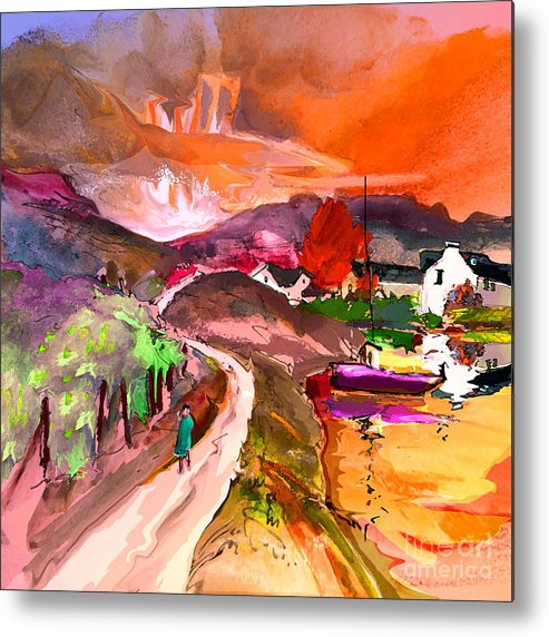 Scotland Paintings Metal Print featuring the painting Scotland 02 by Miki De Goodaboom