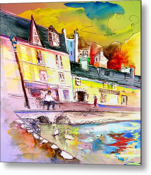 Scotland Paintings Metal Print featuring the painting Scotland 04 by Miki De Goodaboom