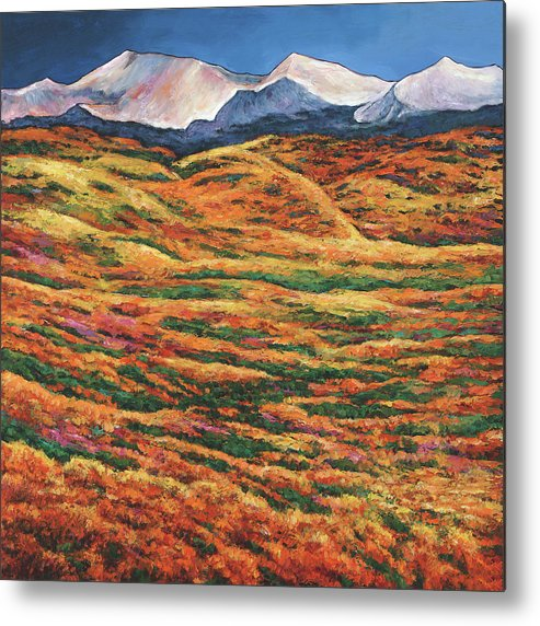 Autumn Aspen Metal Print featuring the painting Sea Of Tranquility by Johnathan Harris