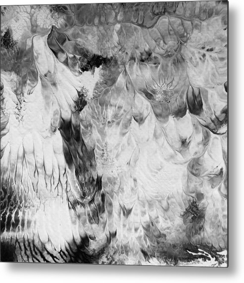 Abstract Metal Print featuring the painting Seraphim by Maura Satchell