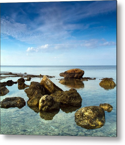 Abstract Metal Print featuring the photograph Serene by Stelios Kleanthous