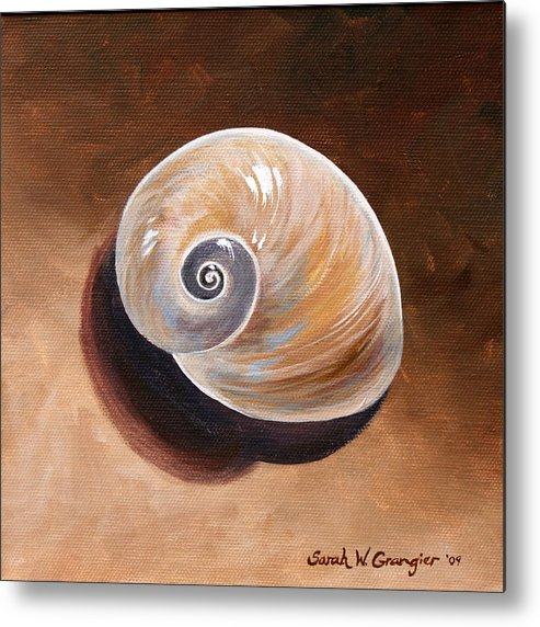 Shell Painting Metal Print featuring the painting Shell by Sarah Grangier