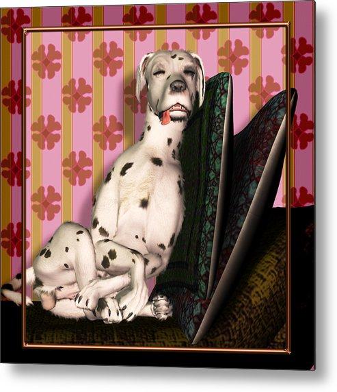 Dalmatian Metal Print featuring the digital art Sleeping IIi by Nik Helbig