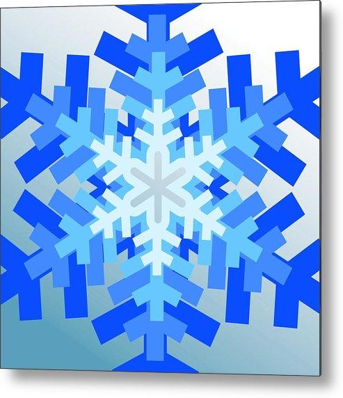 Snowflake Metal Print featuring the digital art Snowflake Pile by Blake Baines