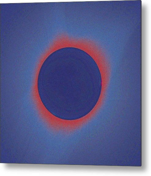Sun Metal Print featuring the painting Solar Eclipse, As Seen Above Madras, Oregon, U.s. By Nasa 3 by Celestial Images