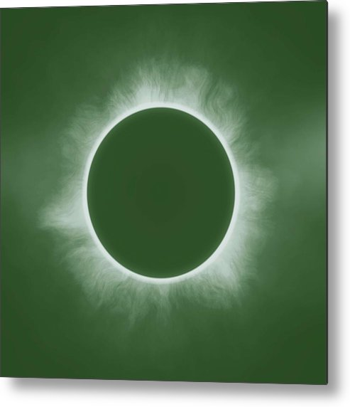 Sun Metal Print featuring the painting Solar Eclipse In Forest Color by Celestial Images