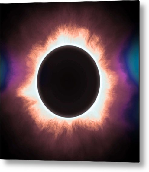 Sun Metal Print featuring the painting Solar Eclipse In Infrared 2 by Celestial Images