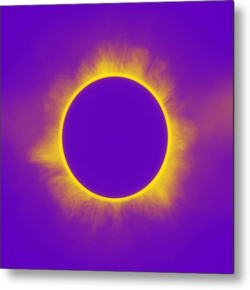 Sun Metal Print featuring the painting Solar Eclipse In Purple by Celestial Images