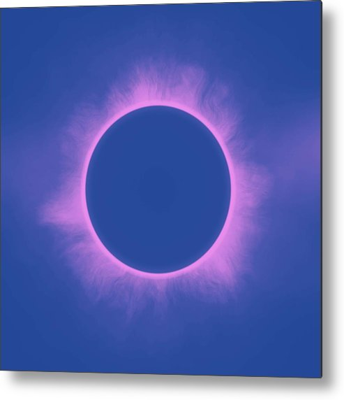 Sun Metal Print featuring the painting Solar Eclipse In Purple Color by Celestial Images