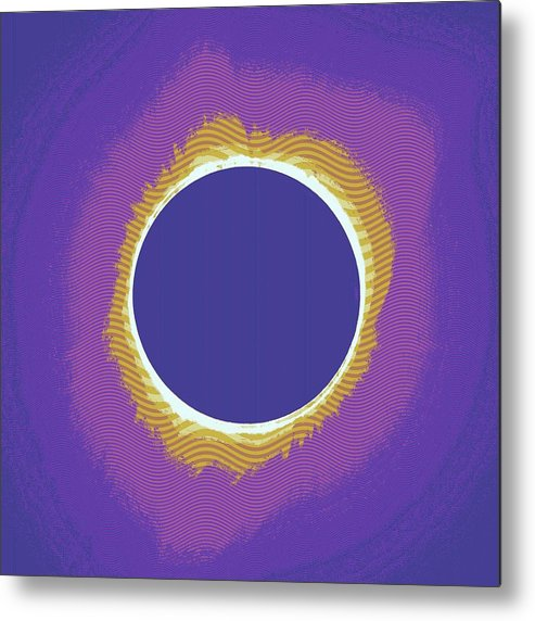 Sun Metal Print featuring the painting Solar Eclipse Poster 3 by Celestial Images