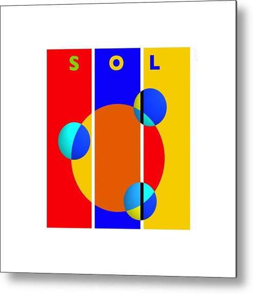 Primary Colors Metal Print featuring the painting Solar Style by Charles Stuart
