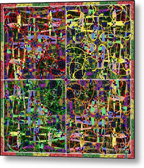 Mkatz Brandt Art Some Harmonies And Tones Some Symmetry Metal Print featuring the digital art Some Harmonies And Tones 17 by MKatz Brandt