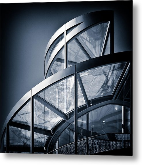 Spiral Metal Print featuring the photograph Spiral Staircase by Dave Bowman