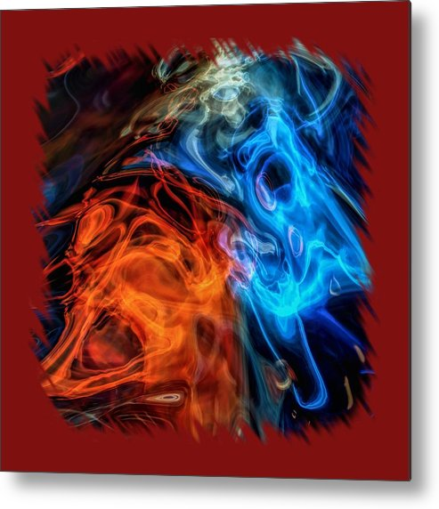 Abstract Metal Print featuring the photograph Spirits For Accessories by John M Bailey