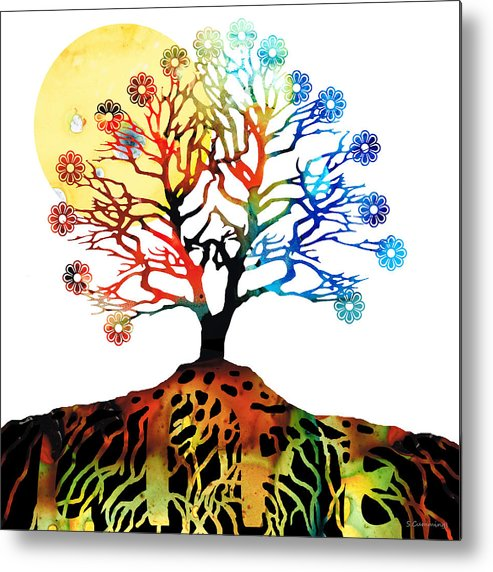Tree Metal Print featuring the painting Spiritual Art - Tree Of Life by Sharon Cummings