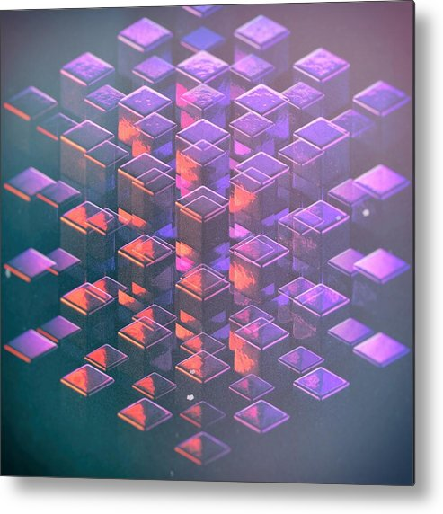 Square Cube Design Metal Print featuring the digital art Squared2 by Francois Cusson