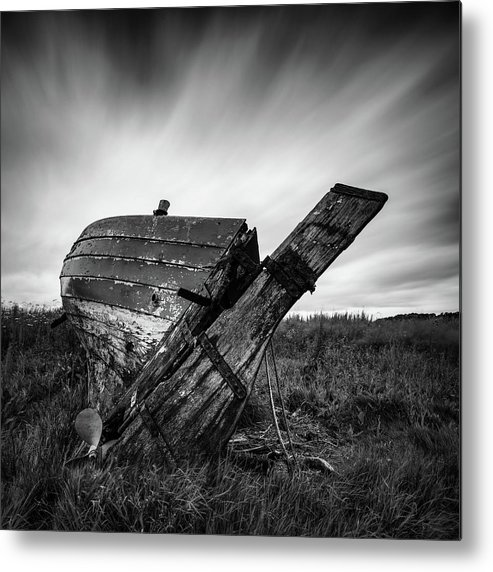Fishing Boat Metal Print featuring the photograph St Cyrus Wreck by Dave Bowman