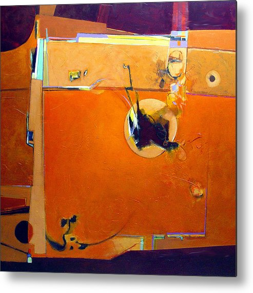 Abstract Metal Print featuring the painting Stimulus by Dale Witherow