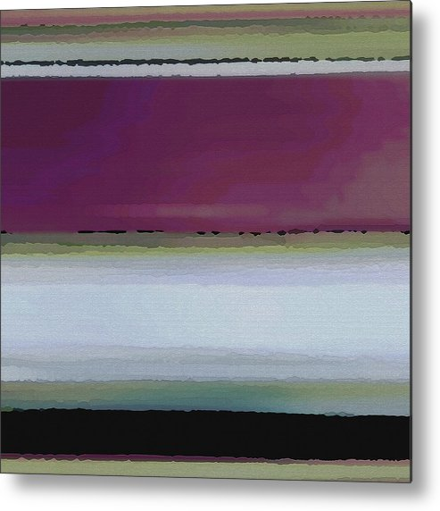 Abstract Metal Print featuring the digital art Straight Across by Ruth Palmer