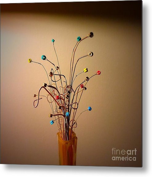 Bouquet Metal Print featuring the photograph String Bouquet by Eddy Mann