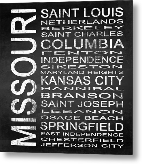 Subway Sign Metal Print featuring the digital art Subway Missouri State Square by Melissa Smith