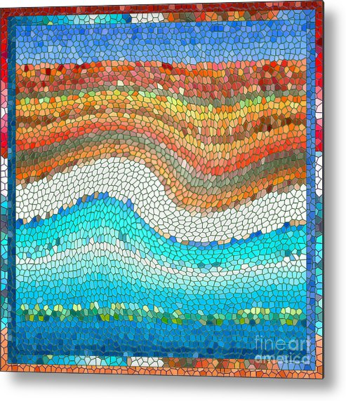 Colorful Metal Print featuring the digital art Summer Mosaic by Melissa A Benson