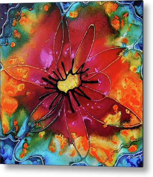 Flower Metal Print featuring the painting Summer Queen by Sharon Cummings