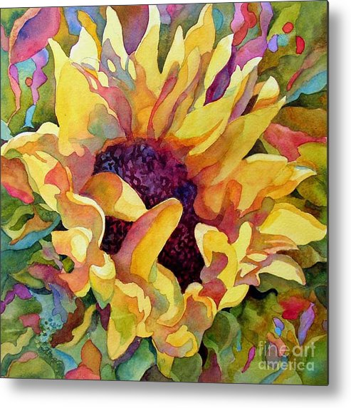 Floral Metal Print featuring the painting Sun Jewels 1 by Wendy Westlake