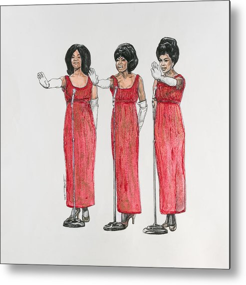 Singers Metal Print featuring the painting Supremes by Buena Johnson
