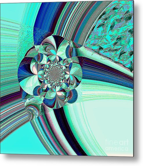 Texture Art Metal Print featuring the mixed media Textures by Beth Aragon