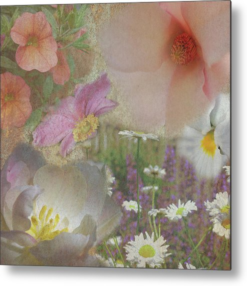 Flowers Metal Print featuring the digital art The Corners Of My Mind by Robin Webster