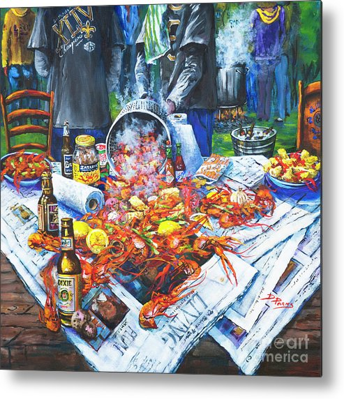 New Orleans Art Metal Print featuring the painting The Crawfish Boil by Dianne Parks